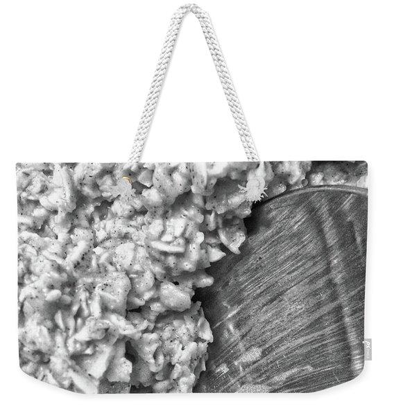 Oatmeal Weekender Tote Bag