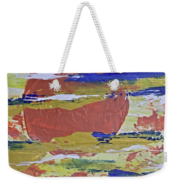 Obscure Orange Abstract Weekender Tote Bag