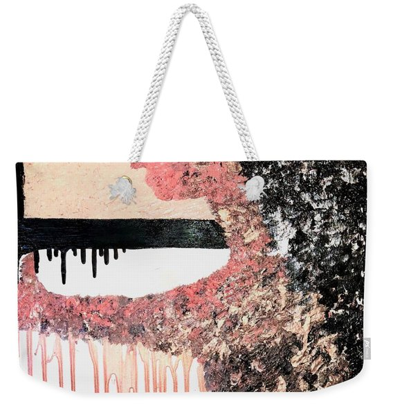 Obsidian Blush Weekender Tote Bag