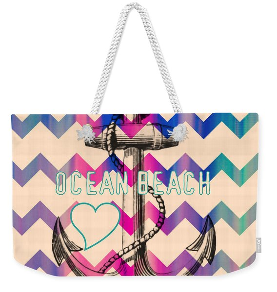 Ocean Beach Anchor Weekender Tote Bag