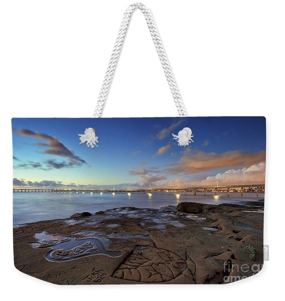 Weekender Tote Bag featuring the photograph Ocean Beach Pier At Sunset, San Diego, California by Sam Antonio Photography