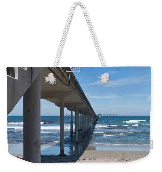 Ocean Beach Pier Stairs Weekender Tote Bag