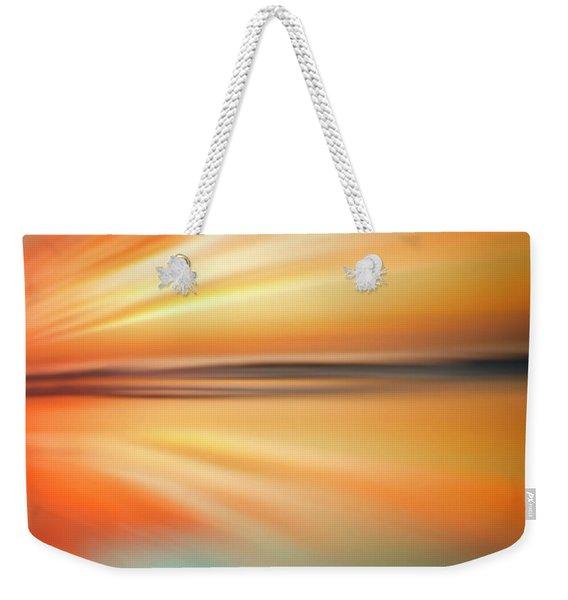 Ocean Beach Sunset Abstract Weekender Tote Bag