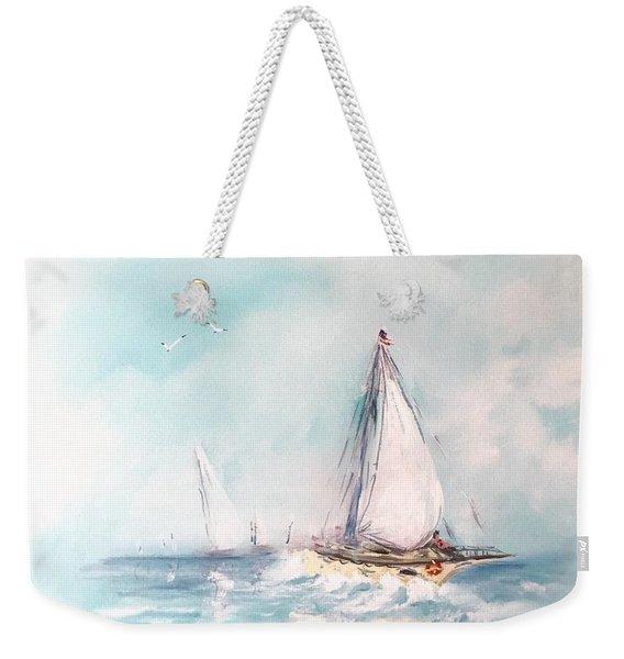 Ocean Blues Weekender Tote Bag