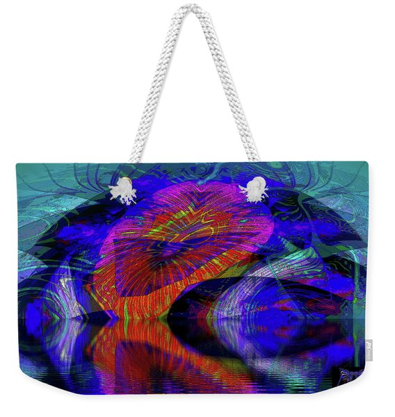 Weekender Tote Bag featuring the digital art Ocean Cavern by Visual Artist Frank Bonilla