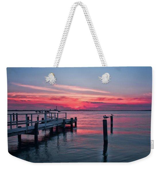 Ocean City Summer Sunset Weekender Tote Bag