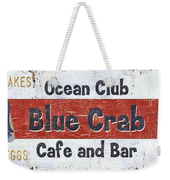 Ocean Club Cafe Weekender Tote Bag