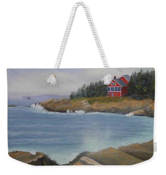Ocean Cottage Weekender Tote Bag