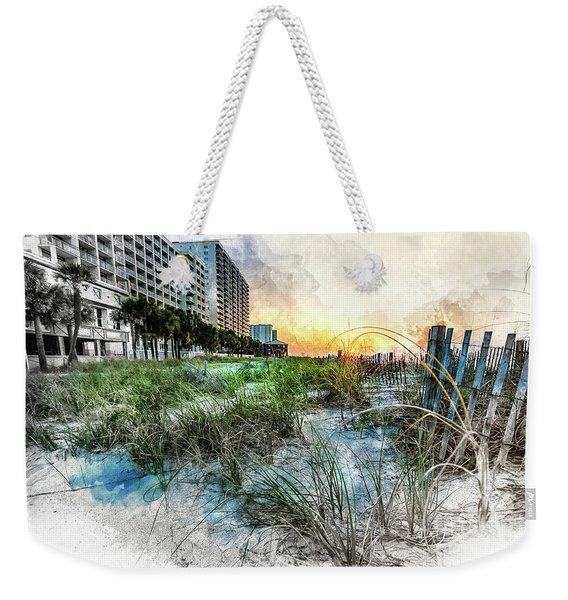Ocean Drive Easter Sunrise Weekender Tote Bag