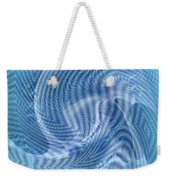 Weekender Tote Bag featuring the digital art Ocean II by Visual Artist Frank Bonilla