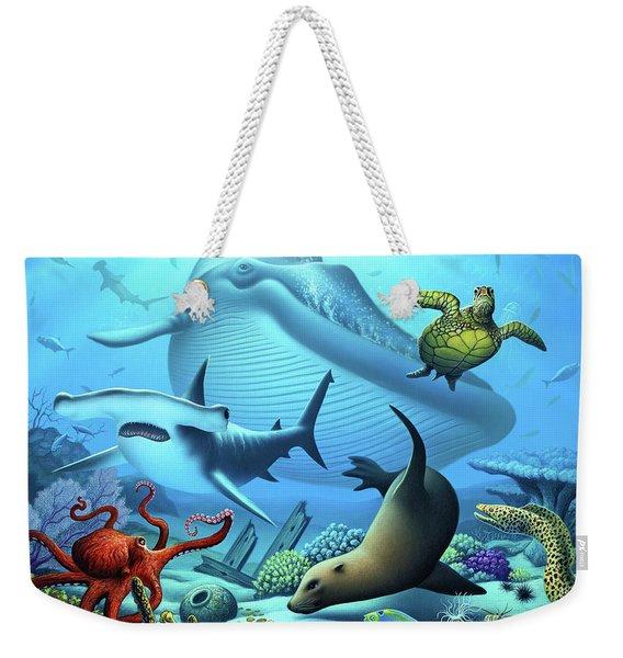 Ocean Life Weekender Tote Bag