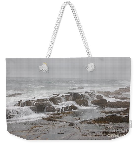 Ocean Waves Over Rocks Weekender Tote Bag