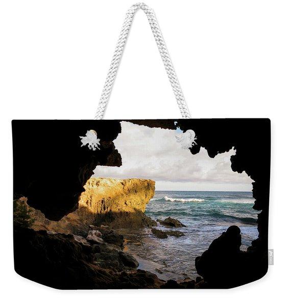 Oceanfront Cave Weekender Tote Bag