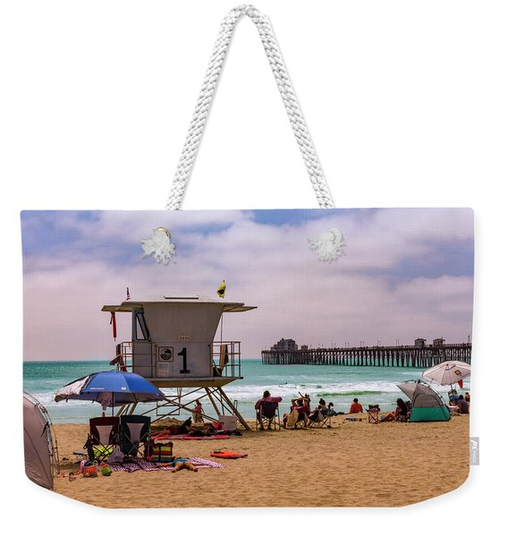 Oceanside Lifeguard Weekender Tote Bag
