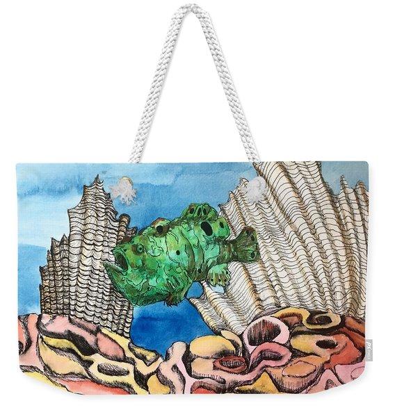 Ocellated Frogfish Weekender Tote Bag