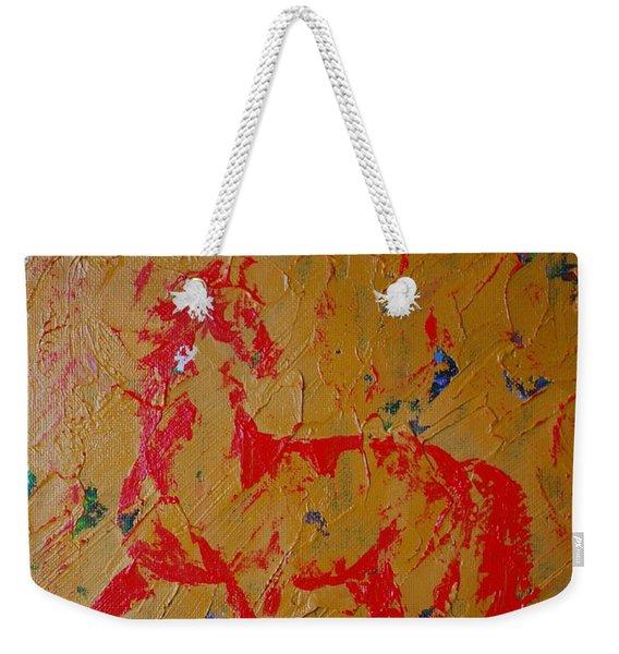 Ochre Horse Weekender Tote Bag