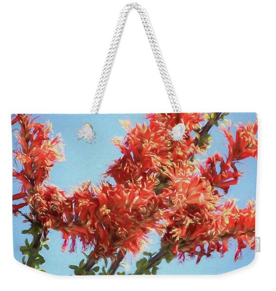 Ocotillo In Bloom Weekender Tote Bag