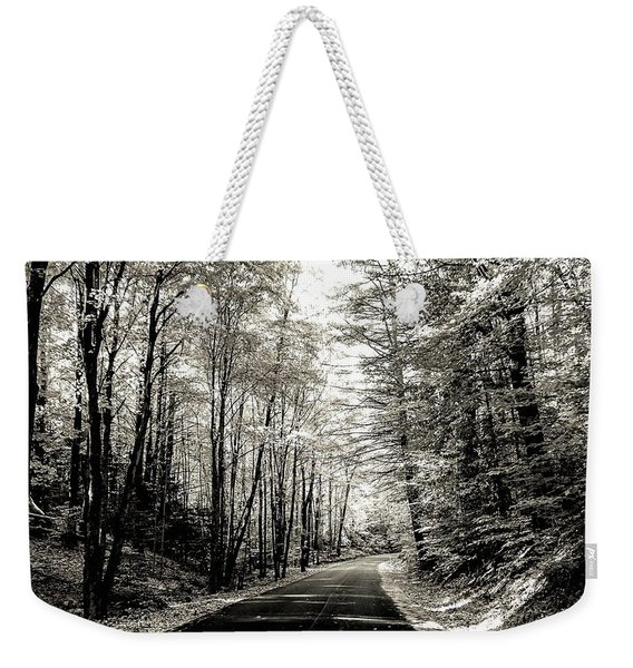 October Grayscale  Weekender Tote Bag