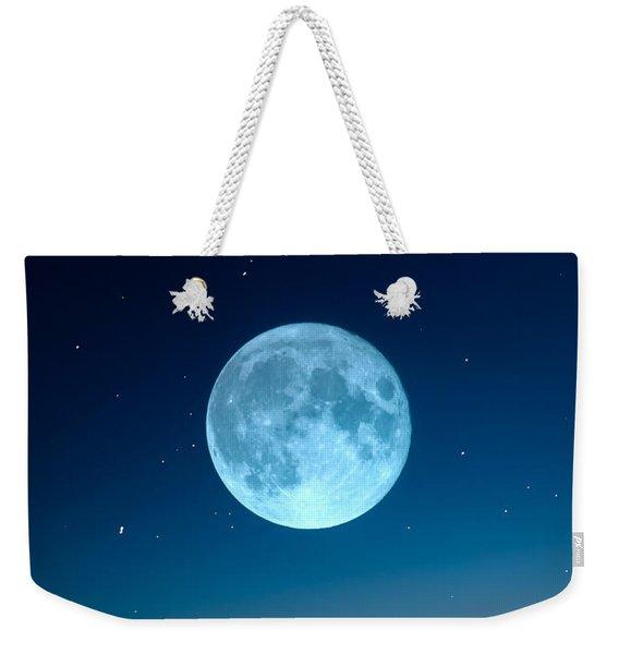 October Moon Weekender Tote Bag