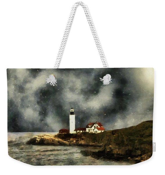 October Night, Portland Head Weekender Tote Bag