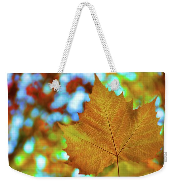 Weekender Tote Bag featuring the photograph October Party by JAMART Photography