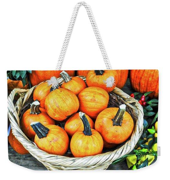 October Pumpkins Weekender Tote Bag