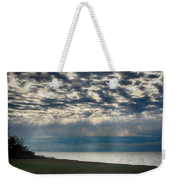 Weekender Tote Bag featuring the photograph October Sky by William Selander