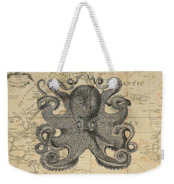 Octopus Sea Chart Weekender Tote Bag