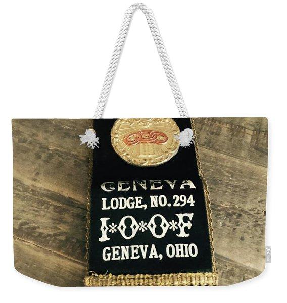 Odd Fellows Geneva Ohio Weekender Tote Bag
