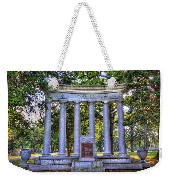 Odd Fellows Memorial Weekender Tote Bag
