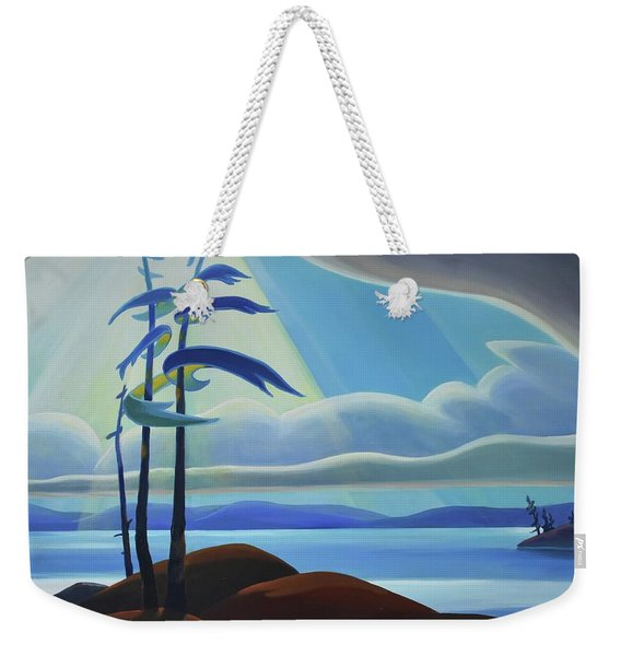 Ode To The North II - Center Panel Weekender Tote Bag