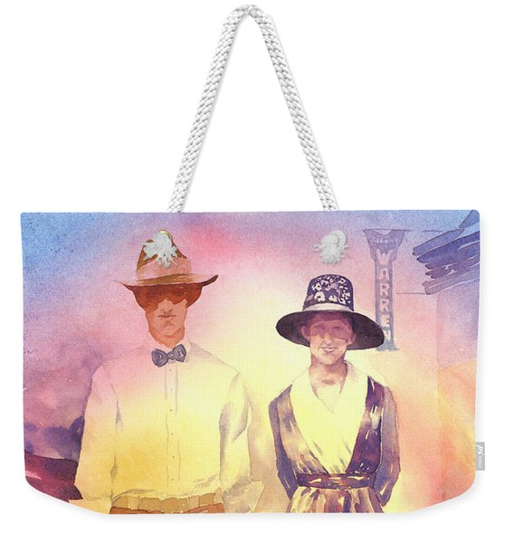 Of Lace And Light, Charlie And Anna, Circa 1915  Weekender Tote Bag