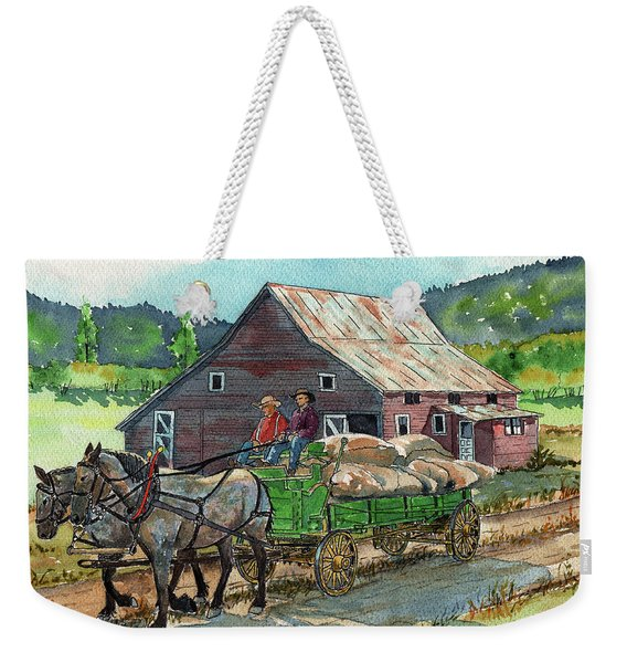 Off To Market Weekender Tote Bag