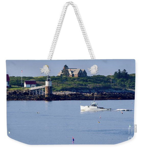 Weekender Tote Bag featuring the photograph Off To Work, East Boothbay, Maine #50011 by John Bald