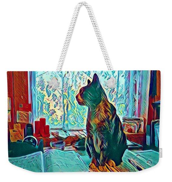 Office Cat Weekender Tote Bag