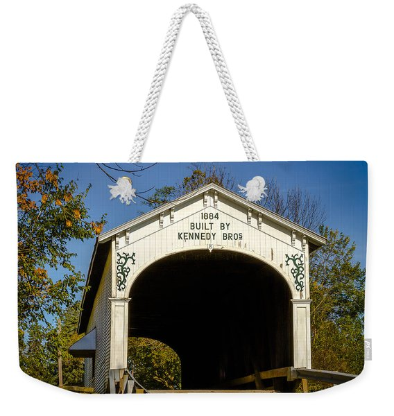Offutt's Ford Covered Bridge Weekender Tote Bag