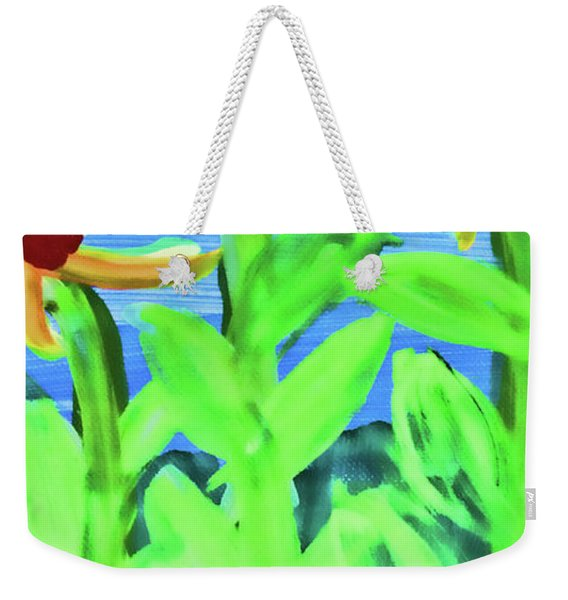 Oh Glorious Day Floral Weekender Tote Bag
