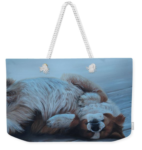 Dog Gone Tired Weekender Tote Bag