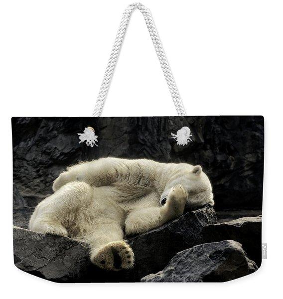 Oh What A Night Polar Bear Weekender Tote Bag