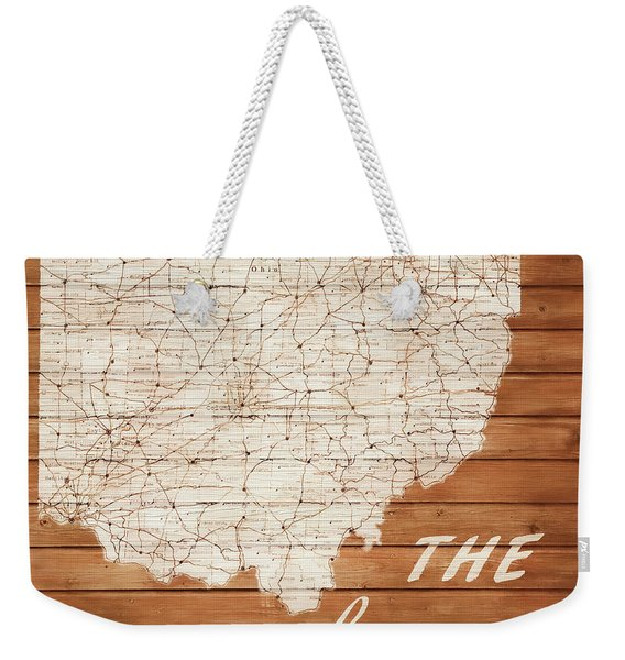 Ohio The Heart Of It All Weekender Tote Bag