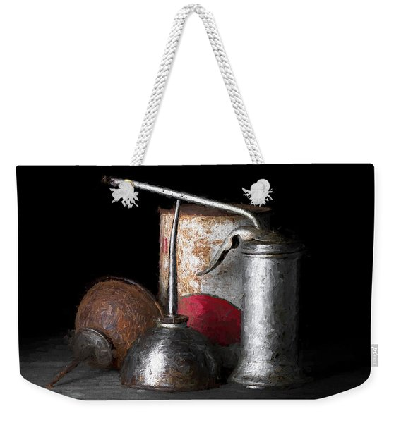 Oil Can Still Life Weekender Tote Bag