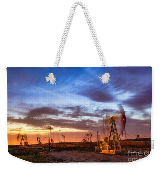 Oil Rigs 3 Weekender Tote Bag