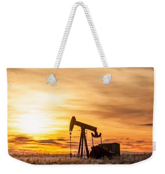 Oil Stained Sky Weekender Tote Bag