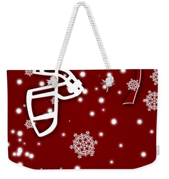 Oklahoma Sooners Christmas Card Weekender Tote Bag