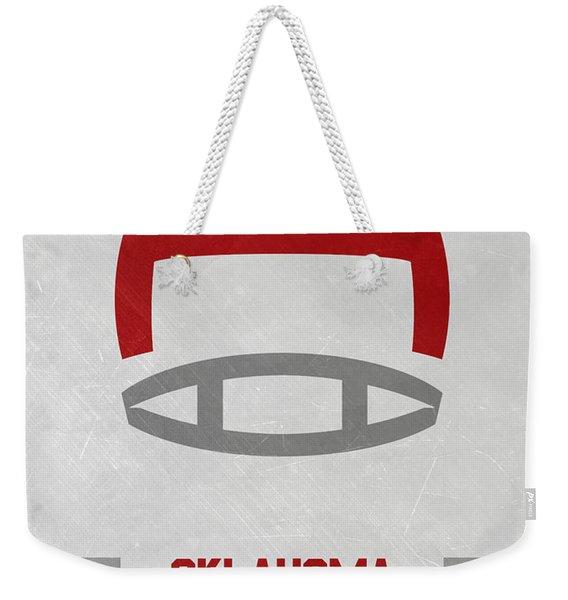 Oklahoma Sooners Vintage Football Art Weekender Tote Bag