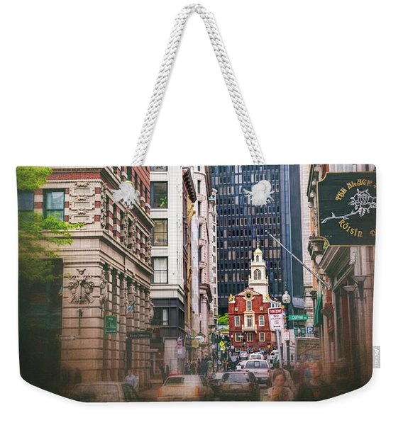 Old And New In Boston  Weekender Tote Bag