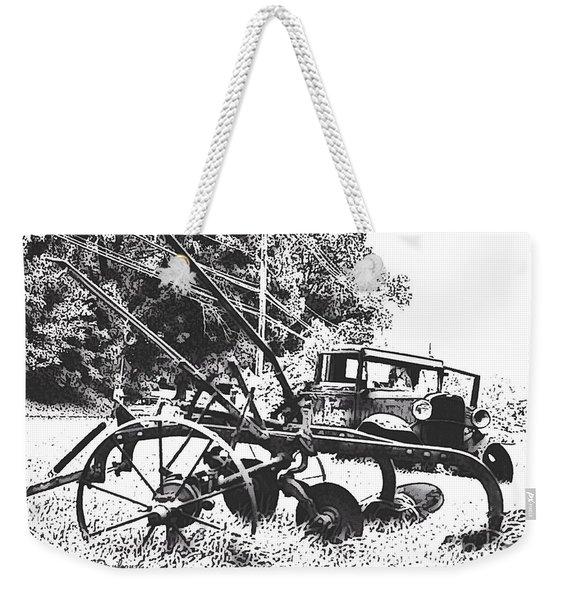 Old And Rusty In Black White Weekender Tote Bag