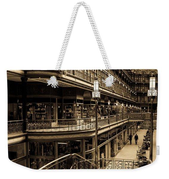 Old Arcade Weekender Tote Bag