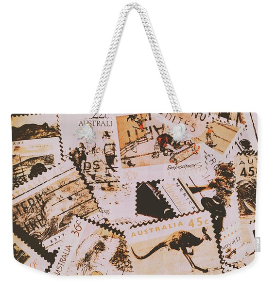 Old Australia In Stamps Weekender Tote Bag