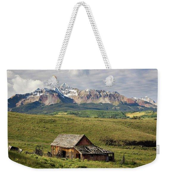 Old Barn And Wilson Peak Horizontal Weekender Tote Bag